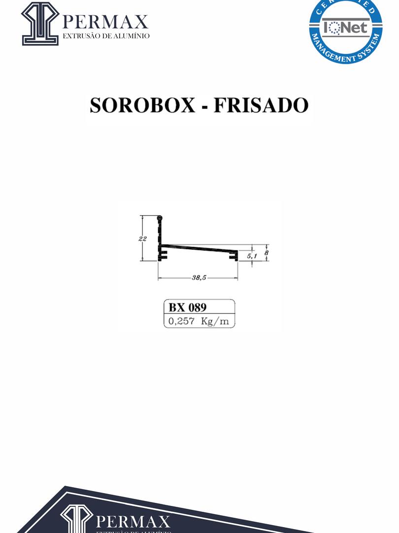 sorobox frisado BX 089