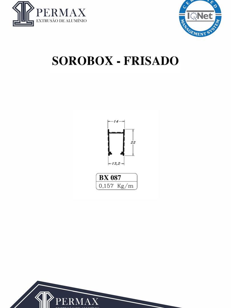 sorobox frisado BX 087