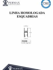 linha homologada esquadrias PE 0300
