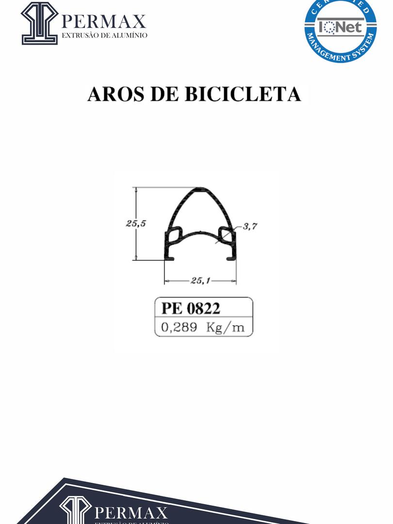 aros de bicicleta PE 0822