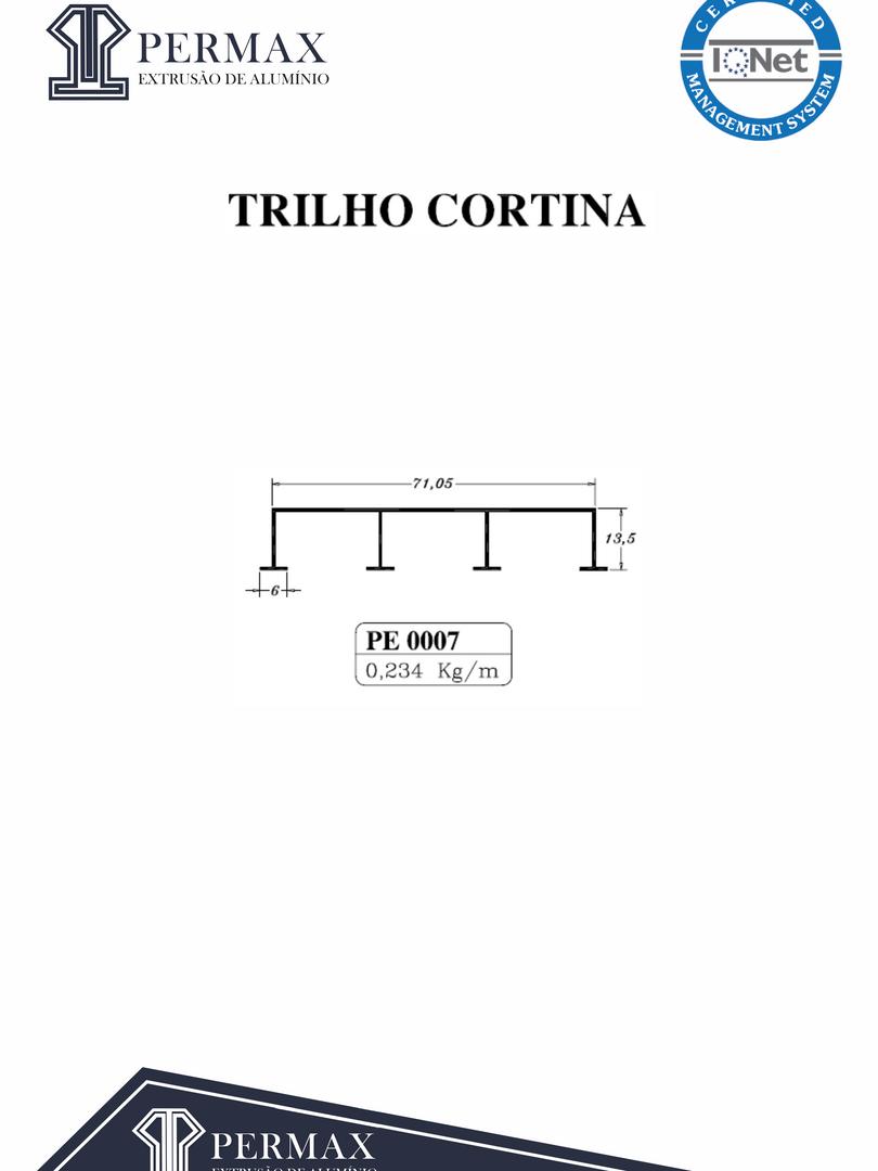trilho cortina PE 0007