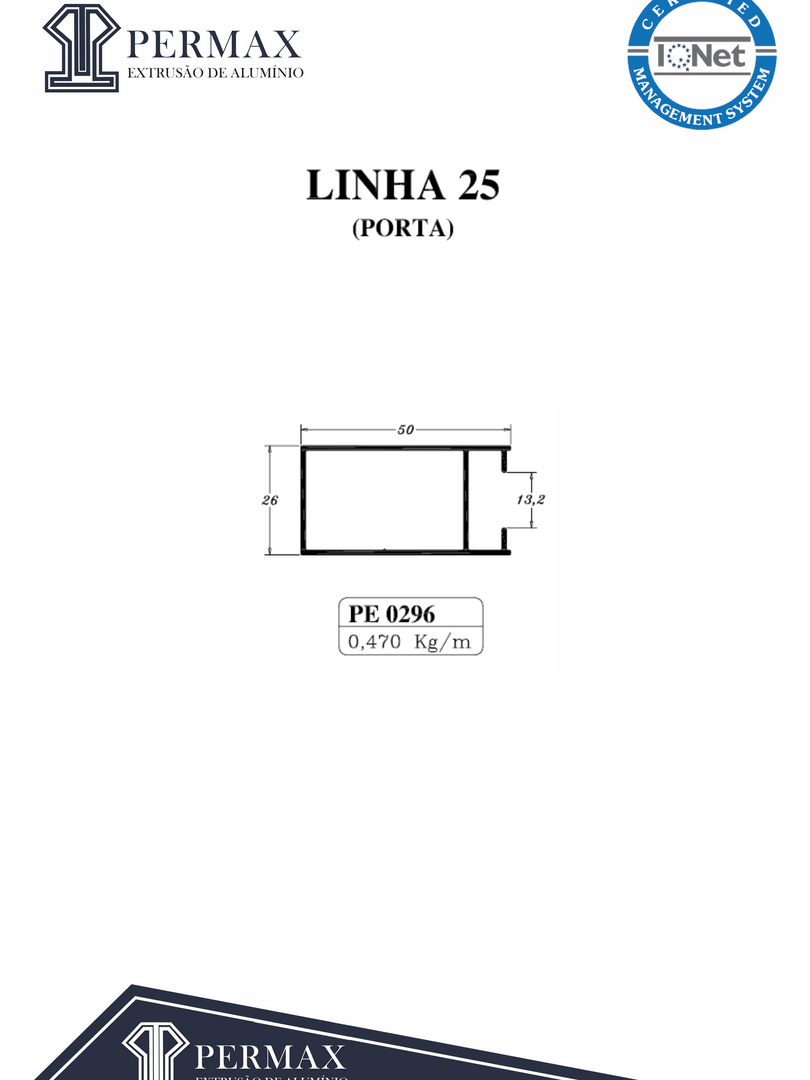 linha 25 porta PE 0296