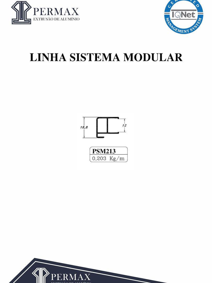 linha sistema modular PSM 213