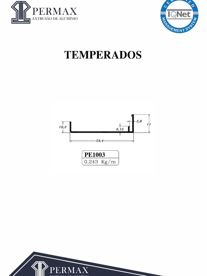 temperados PE 1003