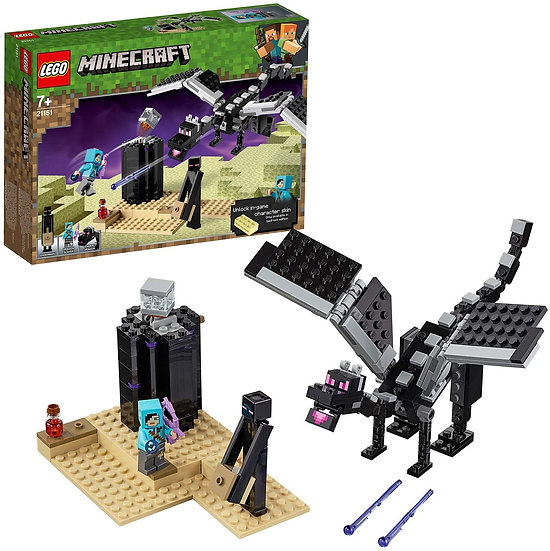LEGO 21151 Minecraft The End Battle Slayer Minifigure and Buildable Dragon