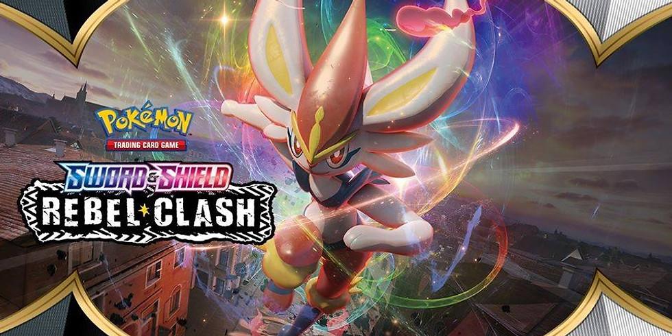 AT HOME Pokemon Sword & Shield Rebel Clash Prerelease!