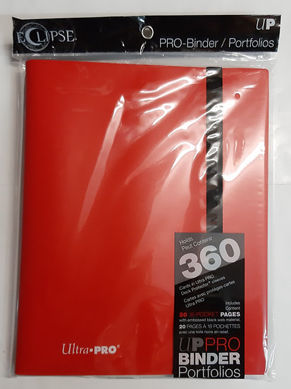 Ultra Pro Pro Binder Portfolio - Red - holds 360 cards double loaded