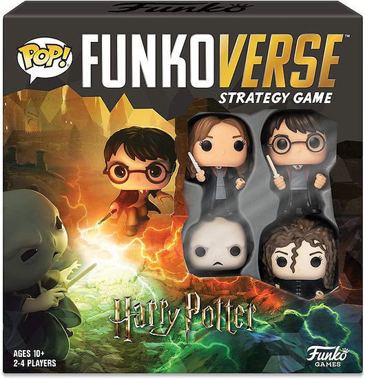 Harry Potter 100 Funkoverse (4 Character Pack) ENGLISH Board Game, Multi Colour