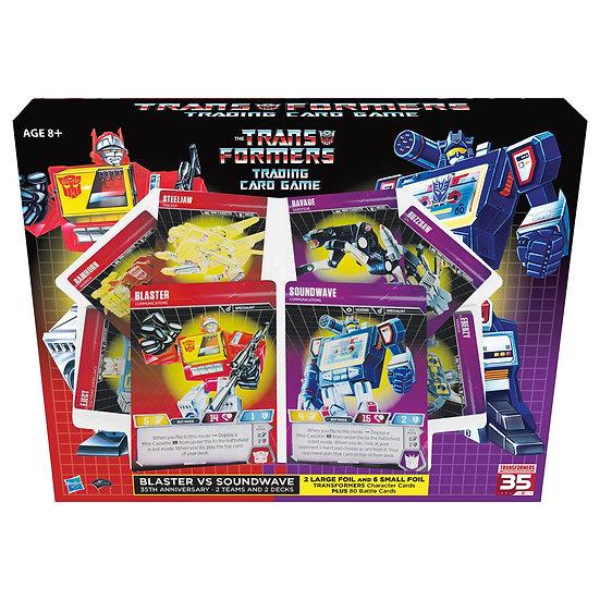 Transformers Trading Card Game: Blaster Vs Soundwave Deck 35th Anniversary Ed.