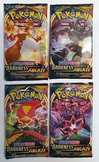 Pokemon Darkness Ablaze 4 booster packs all artwork