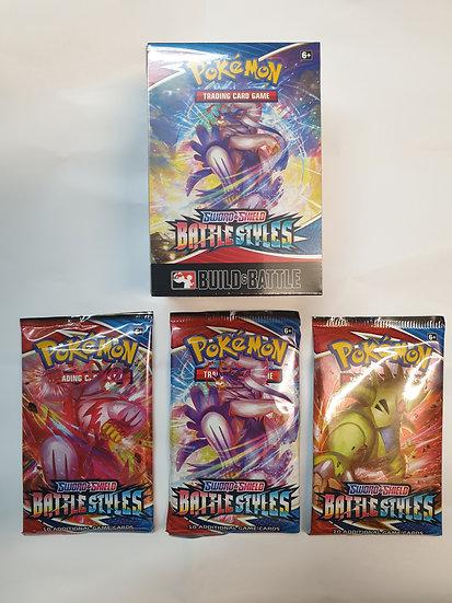 Pokemon Battle Styles Prerelease Prerorder with 3 booster packs