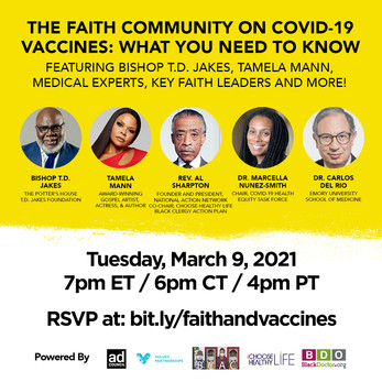 Join our Founder, Debra Fraser-Howze and our Co-Chairs Rev. Al Sharpton and Rev. Calvin O. Butts, II