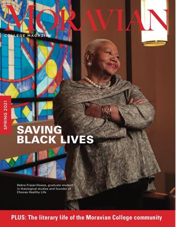 Founder Debra Fraser-Howze graces the cover of Moravian College Magazine