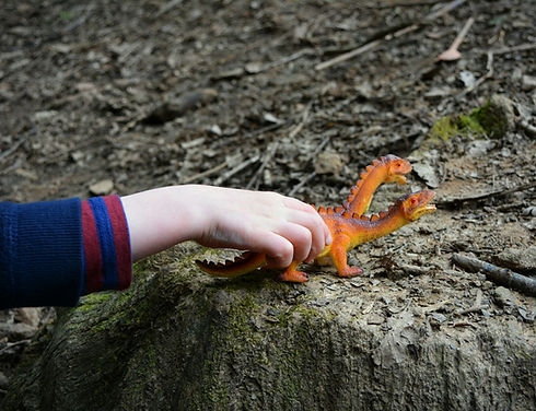 Small world and dinosaurs with The World Outside at Bodenham Arboretum