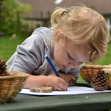The World Outside Kindergarten Outdoor nursery Kidderminster Worcestershire Children writing