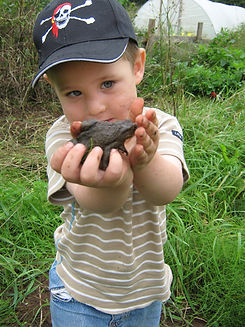 Child with a Toad The World Outside Kindergarten