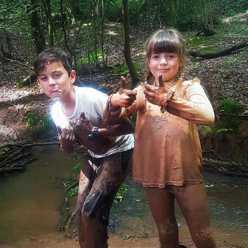 Children Mud The World Outside