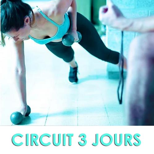 Programme d'entraînement en circuit 3 jours.