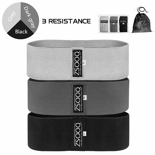 3 Bandes de résistance en tissus pour l'entraînement
