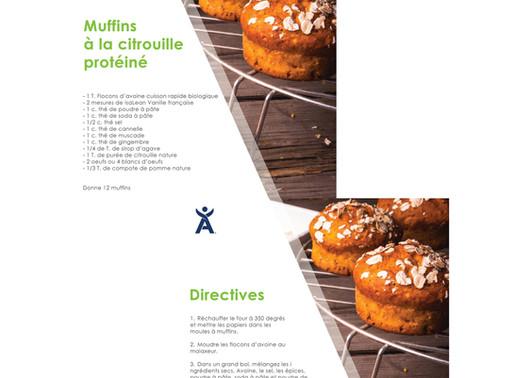 Recette de muffins à la citrouille épicée