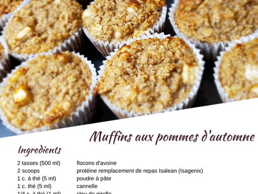 Recette de muffins aux pommes d'automne