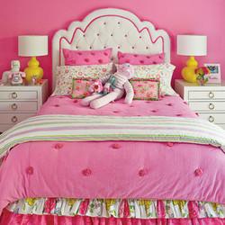 Pink Child's Bedroom with PB comforter