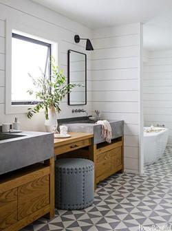 House Beautiful wood clad bathroom