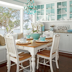 Gorgeous White Cottage Dining Room