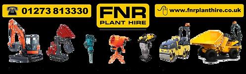 FNRPlant Hire Banner Logo