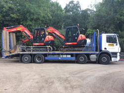 8T excavators loaded on lorry