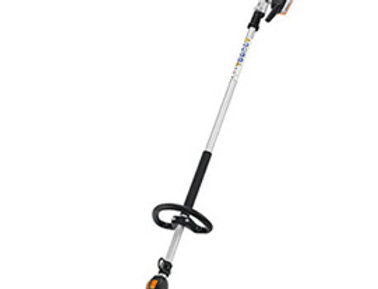 Stihl long-reach hedge trimmer with long shaft