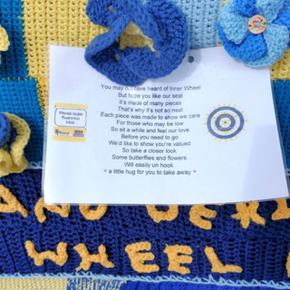 Inner wheel yarn bomb message