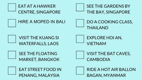 South East Asia Career Break Bucket List Challenge