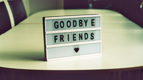 Saying goodbye when leaving to travel the world