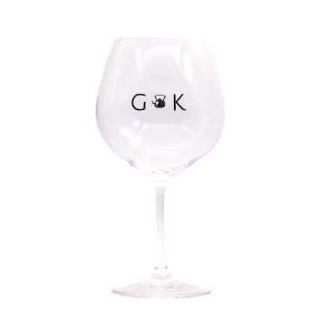 Crystal Copa de Balon Gin Glass featuring the Gin Kitchen logo