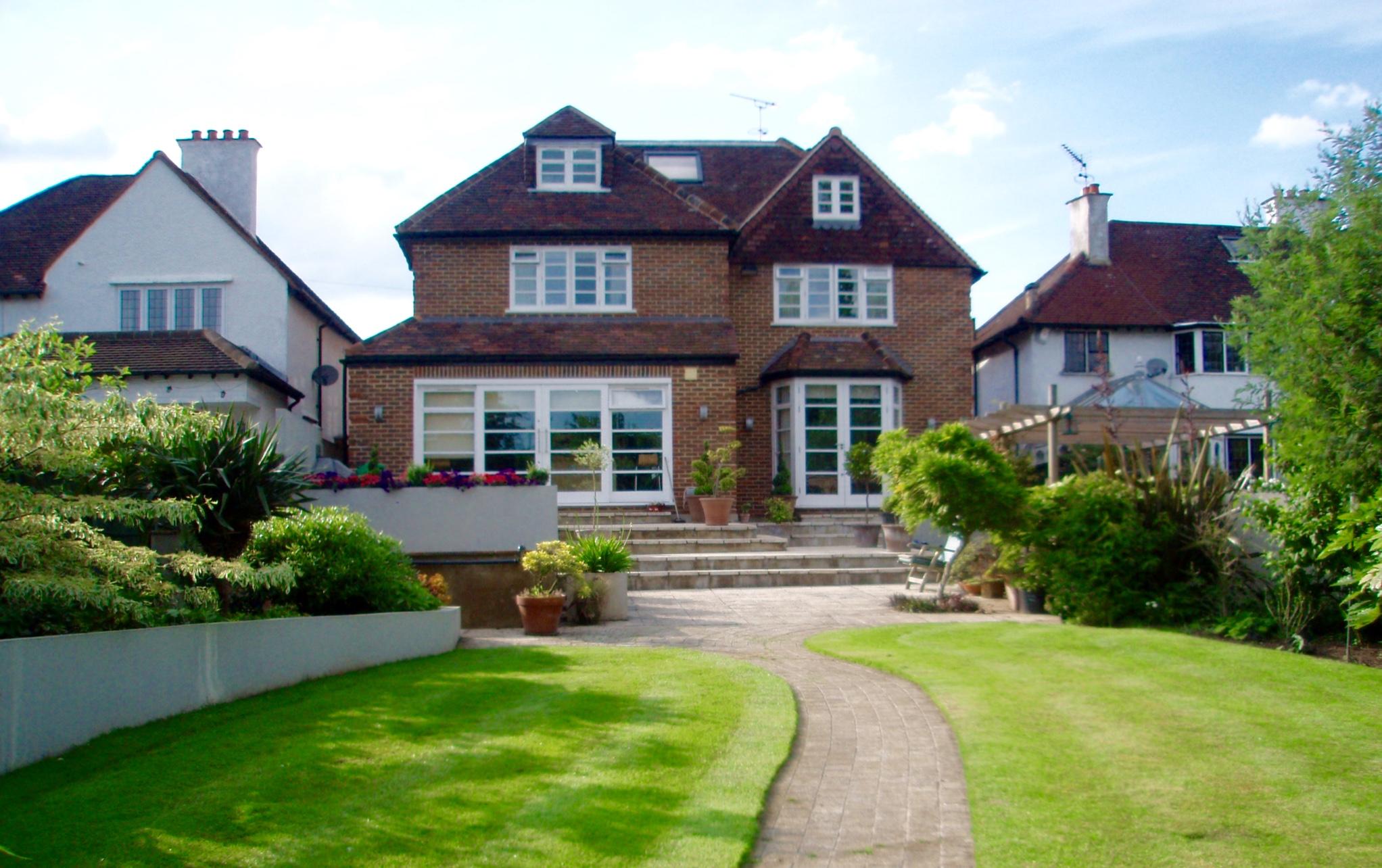 Rear View of Full House Development