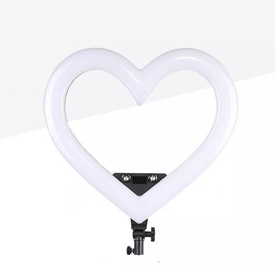 Black Shape Heart Ring Light