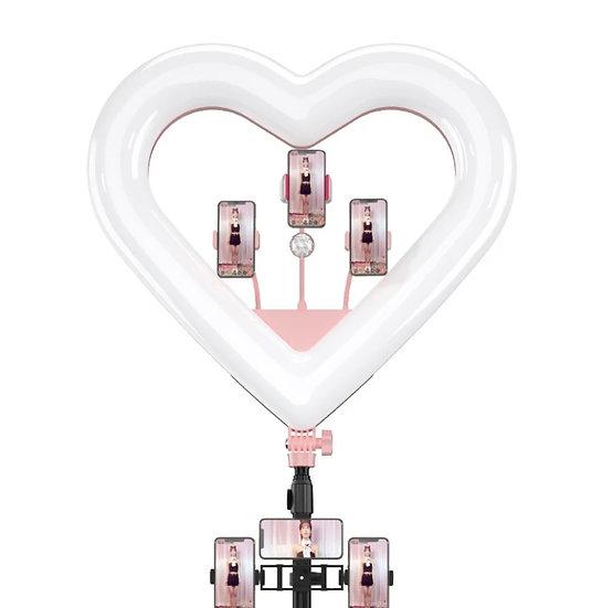 Heart Shape Ring Light