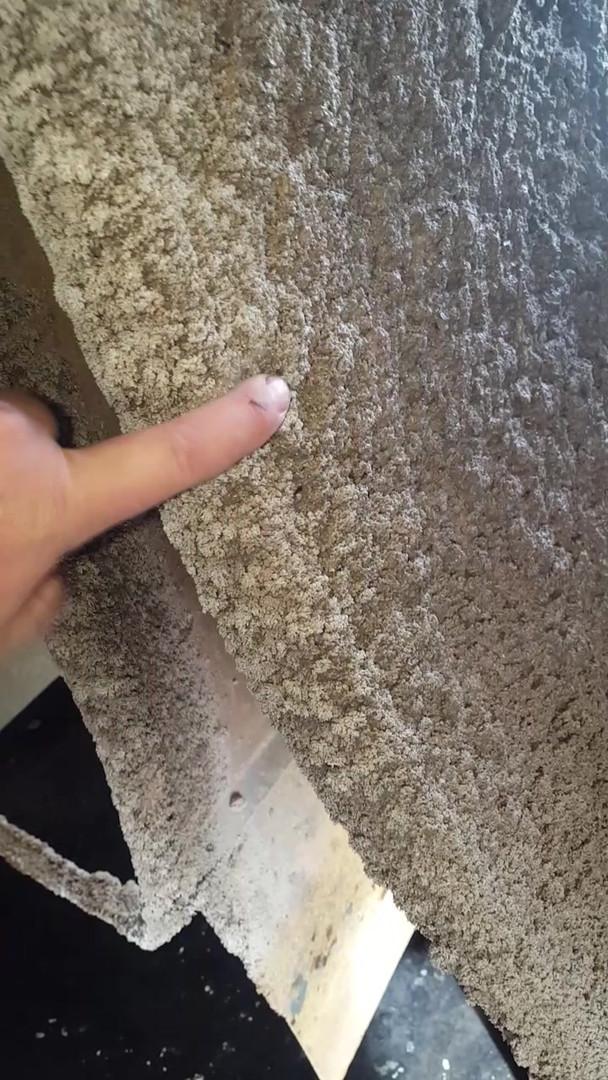 Calcium accumulation in fan housing