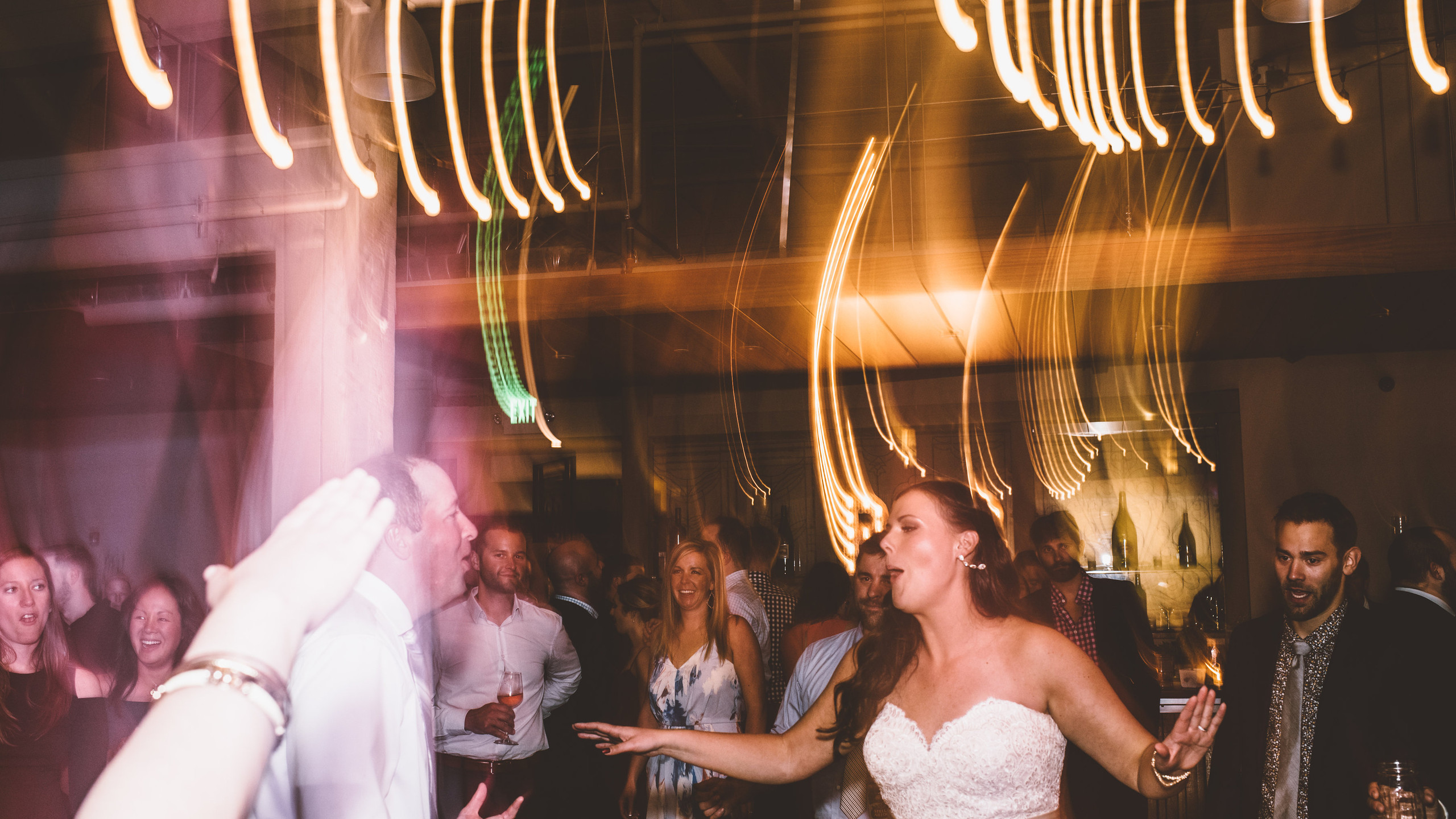 Wedding ceremony and reception at the Foundry in Seattle.  Photo by Aga Kownacka Photography.