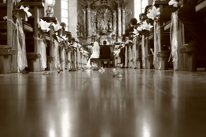 Eine kirchliche Trauung