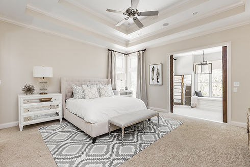 Bedroom in home sold by Stacey Willis Homes