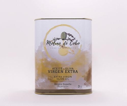"""Aceite de Oliva Virgen Extra """"SIN FILTRAR""""  Caja 4LATAS de3litros"""