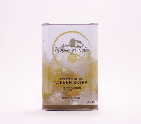 "Aceite de Oliva Virgen Extra ""SIN FILTRAR""| Caja 12LATAS de500 ML"
