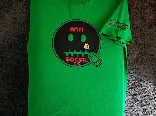 Anti 🤐 Social CE Juneteenth Green Black Red
