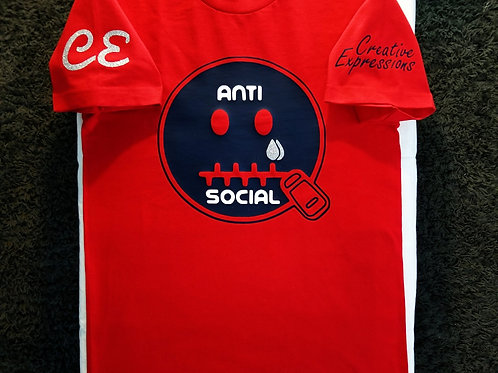 Anti 🤐 Social CE Red and Navy