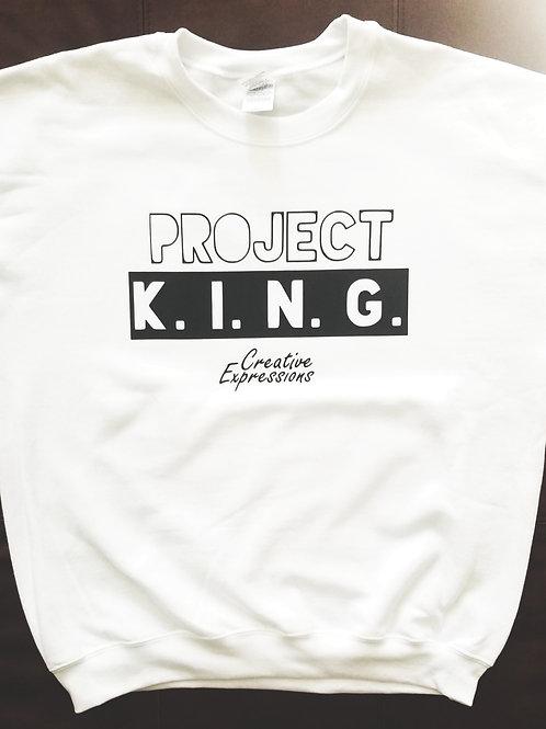 Project 🏚 K.I.N.G. CE Sweatshirt White and Black