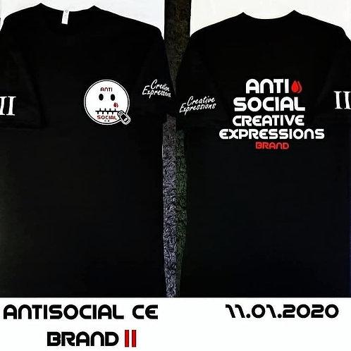 Anti 🤐 Social CE II 🏁 Black and White T-Shirt