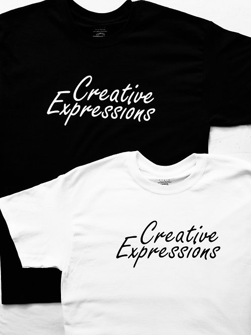 Creative Expressions T-Shirt Black & White