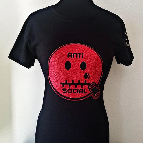 Anti 🤐 Social CE Black & Red (Glit)
